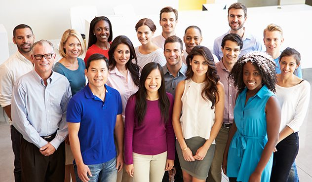 Photo of smiling employings